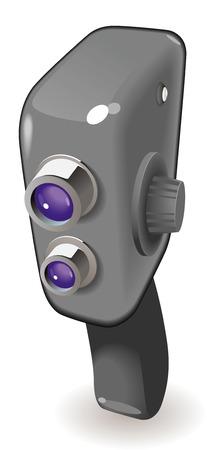 Retro-styled movie camera. Vector illustration. Stock Vector - 5961183