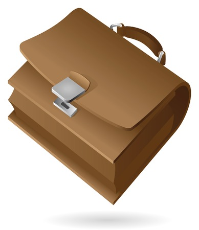 Isometric icon of brief-case.  Vector