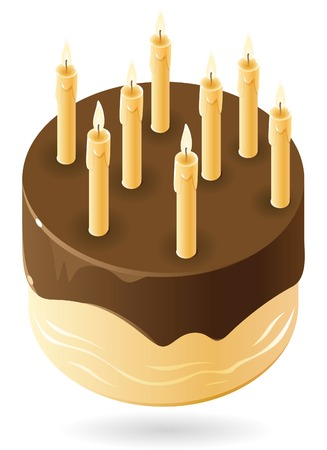www tasty: Chocolate cake with candles.