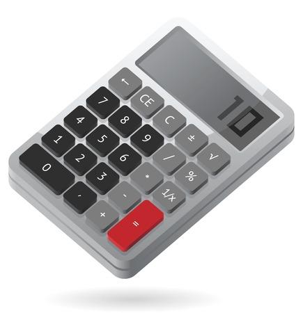 rekenmachine: Grijze isometrische calculator.