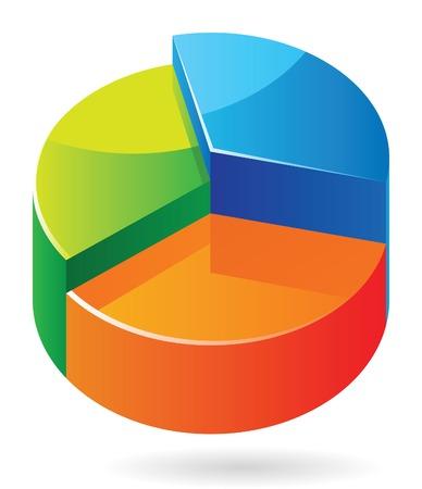 dividend: Multicolored graph.  Illustration