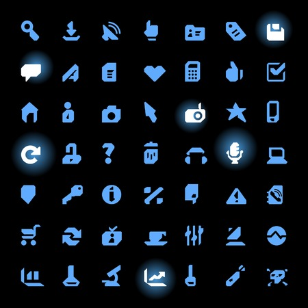 Set of 49 Rough Straight Line Icons. illustration. Vector