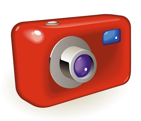Cámara de foto estilo retro. ilustración.