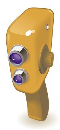 Retro-styled movie camera.  illustration. Stock Vector - 6634036