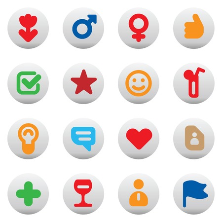 dating icons: Set of dating and love icons. illustration.