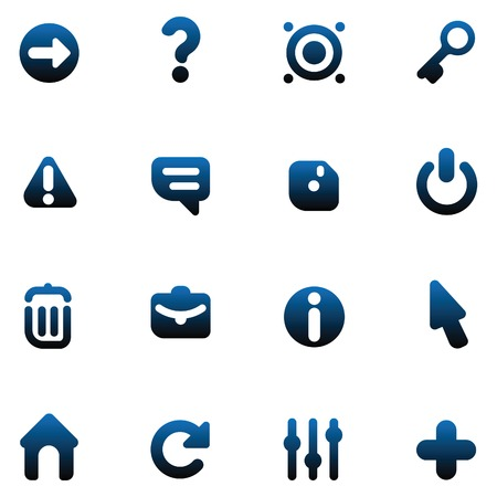 Set of icons for computer program interface and website design. illustration. Vector