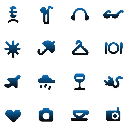 plate camera: Leisure, resort and hotel service icons. Vector illustration.