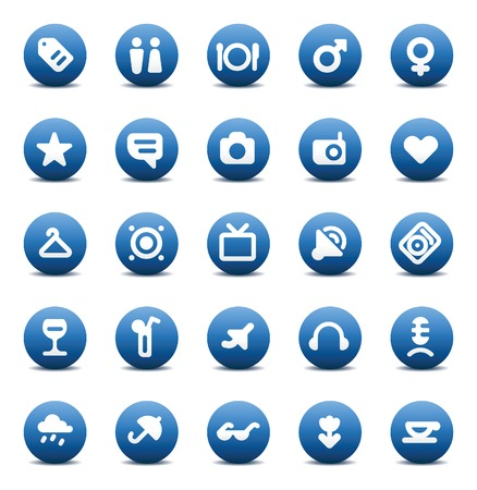 Designers icons set for travel, leisure and hotel service. Vector illustration. Stock Vector - 6729362