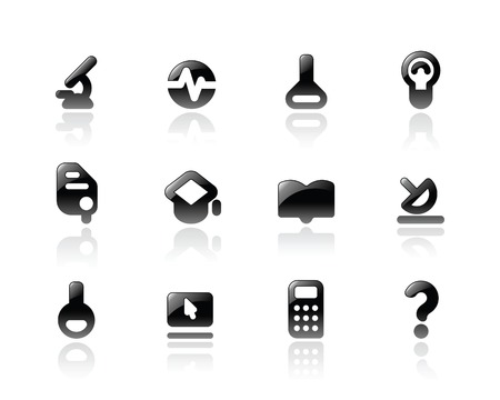 Perfect designer vector icons for science, research and education. Main shape, highlights and reflection are in separate layers. Stock Vector - 6729295