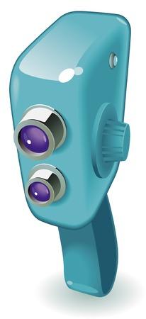 Retro-styled movie camera. Vector illustration. Stock Vector - 6729287