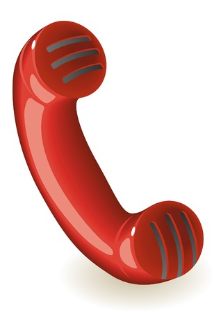 Old-fashioned phone handset. Vector illustration. Stock Vector - 6729283