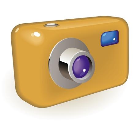 Retro-styled photo camera. Vector illustration.  Stock Vector - 6729294