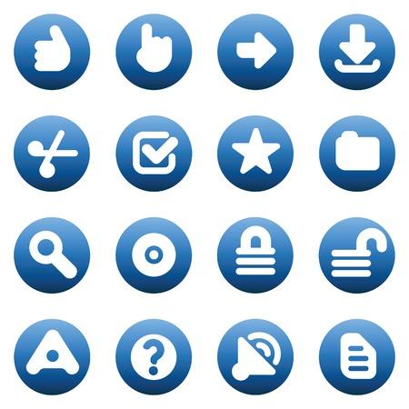 Set of internet icons for websites. Vector illustration. Vektorové ilustrace