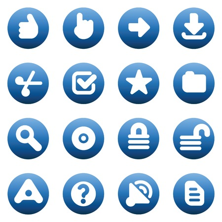 unlocked: Set of internet icons for websites. Vector illustration.