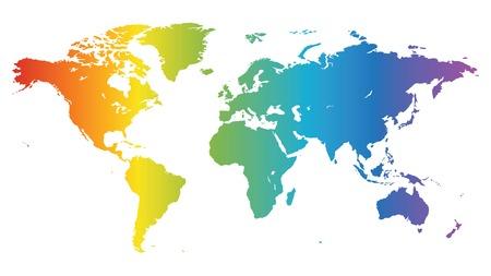 географический: Multicolored high quality vector map of the World.