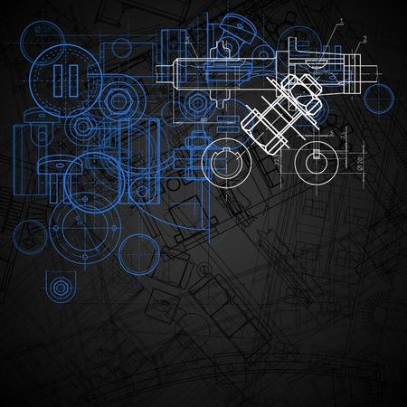 Fondo industrial abstracta  Ilustración de vector