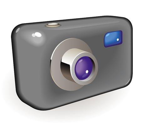 Retro-styled photo camera.  illustration.  Stock Vector - 7023205