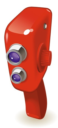 Retro-styled movie camera.  illustration. Stock Vector - 7023273