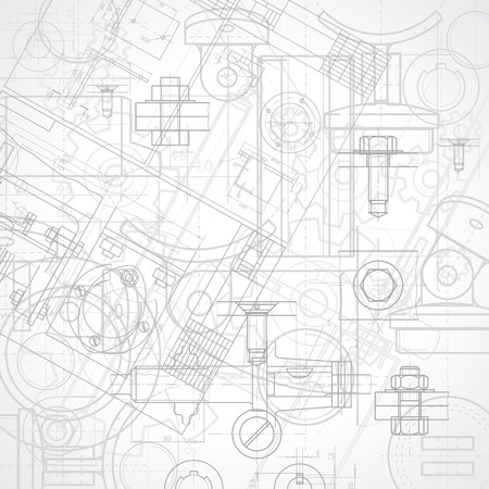 mechanical: Abstract industrial background, illustration.