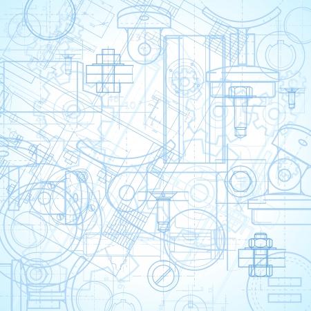 mechanical: Abstracte industriële achtergrond afbeelding.