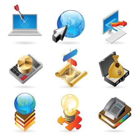 fax: concept icons for business. Illustrations for document, article or website.