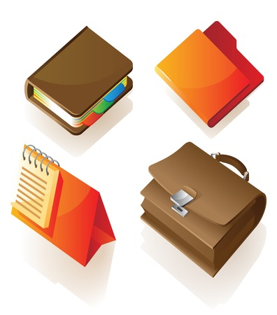 Items for work. illustration. Stock Vector - 7055958