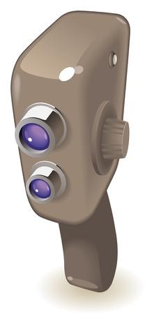 Retro-styled movie camera.  illustration. Stock Vector - 7055960