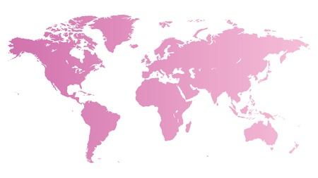 geographical locations: High quality pink  map of the World. Illustration