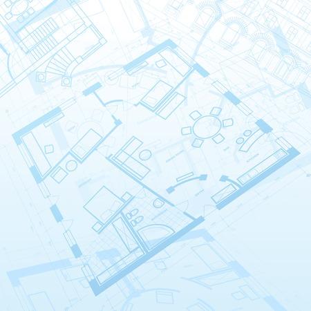 Abstrakt Architektur Hintergrund. Vektor-Illustration.