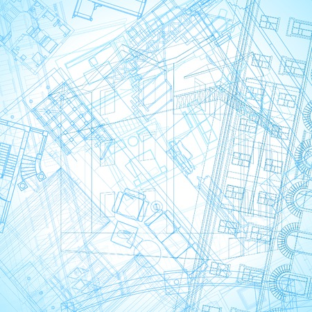 Abstract architectural background. Vector illustration. Vector