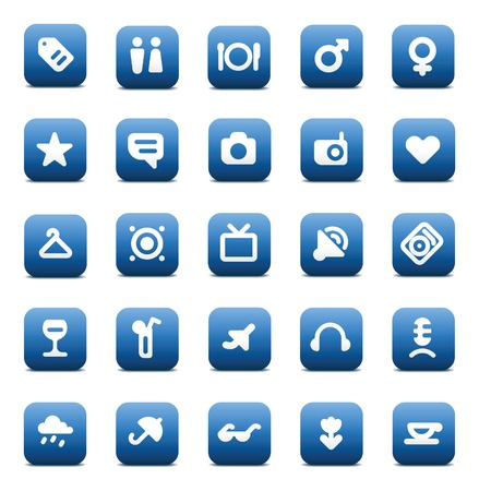 Designers icons set for travel and leisure. Vector illustration. Stock Vector - 8622089