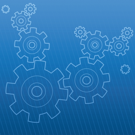 gearwheels: Abstract industrial background, vector illustration.