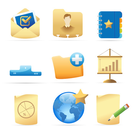 piechart: Icons for business metaphors and symbols. Vector illustration.