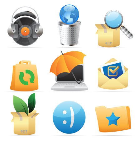 paperbag: Icons for concepts and metaphor. Vector illustration.