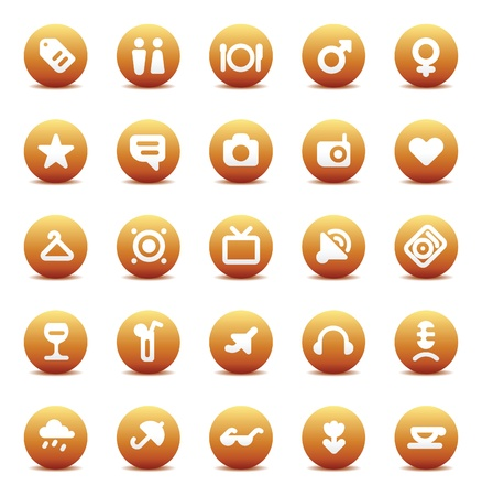 Designers icons set for travel, leisure and hotel service. Vector illustration. Stock Vector - 10688727