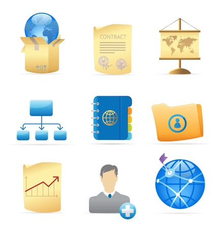 Icons for business metaphors and symbols. Vector illustration. Stock Vector - 10688709