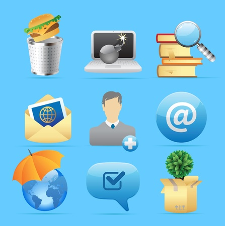 Icons for concepts and metaphor. Vector illustration. Vector