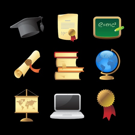 Icons for education. Vector illustration. Stock Vector - 10688700