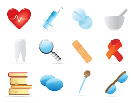 Icons for medicine. Vector illustration. Stock Vector - 10688678