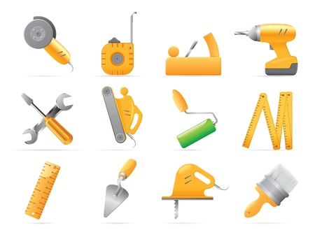 screwdriver: Icons for tools. Vector illustration.