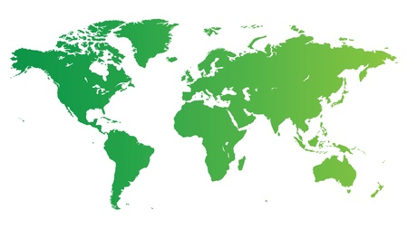 High quality green vector map of the World. Vector