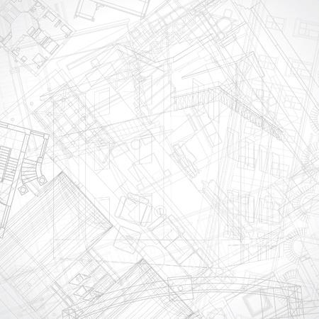 Zusammenfassung architektonischen Hintergrund. Vektor-Illustration.