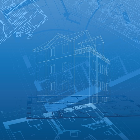 building blueprint: Abstract architectural background. Vector illustration. Illustration