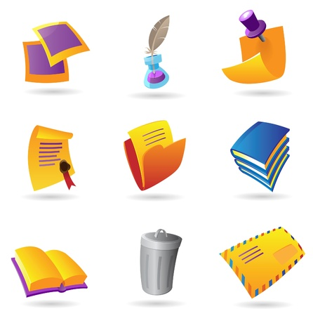 Icons for stationery. Vector illustration. Stock Vector - 10893009