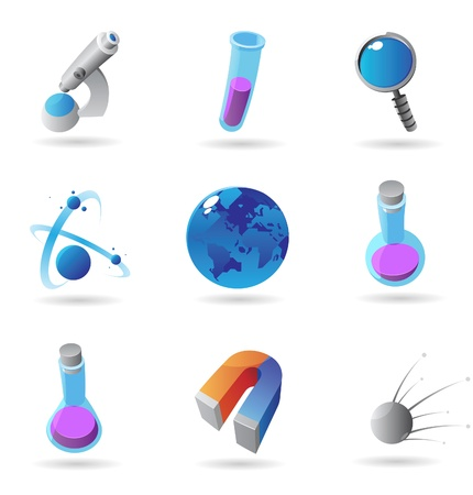 Icons for science. Vector illustration. Stock Vector - 10893011