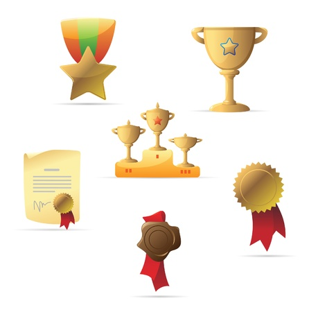 Icons for awards. Vector illustration. Vector