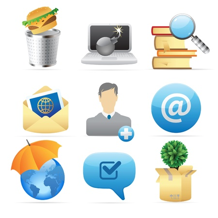 Icons for concepts and metaphor. Vector illustration. Stock Vector - 10893060