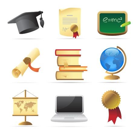 Icons for education. Vector illustration. Illustration