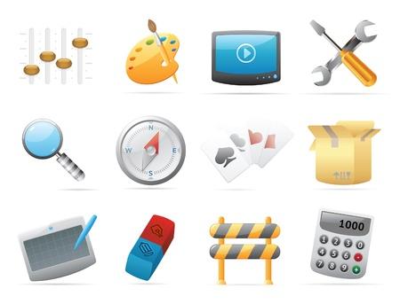 input device: Iconos para el ordenador y la interfaz web. Ilustraci�n vectorial.