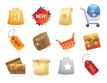 sticker design: Icons for retail. Vector illustration. Illustration